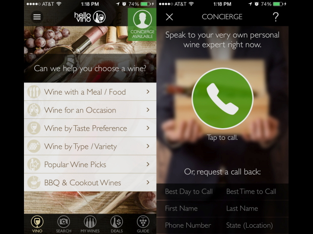 "Hello Vino Launches New ""Wine Expert On-Demand"" App Powered by VinoPRO"